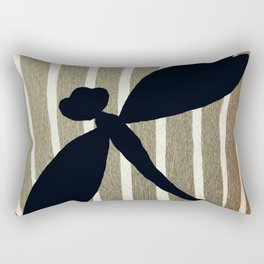 Vintage Zebra Stripe Dragonfly Silhouette Rectangular Pillow