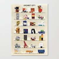 babina Canvas Prints featuring archist city by federico babina