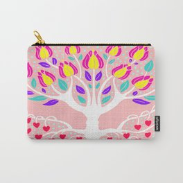 Love Grows Forever - Blush Peach Carry-All Pouch
