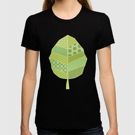 The Unique One (Green Patterned Leaf Patchwork) T-shirt