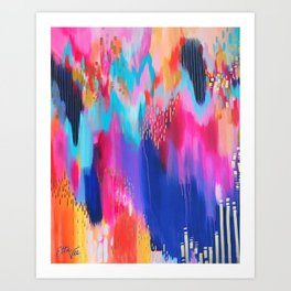 Brushstrokes no.14 Art Print