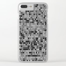Heathered knit textile 4 Clear iPhone Case
