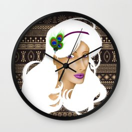 African Peacock Wall Clock