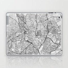 Madrid Map Line Laptop & iPad Skin