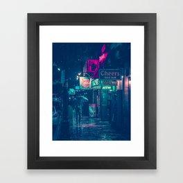 6th Street during Hurricane Harvey Framed Art Print