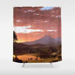Mount Katahdin, Maine by Frederic Irwin Church Shower Curtain
