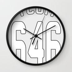 TCOM 646 AREA CODE JERSEY Wall Clock