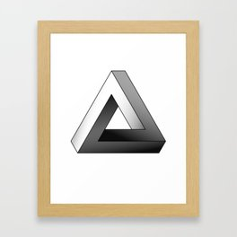 Impossible Triangle Framed Art Print