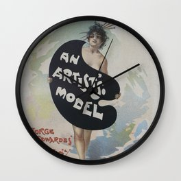 Artists model, 1896 french poster Julius Price Wall Clock