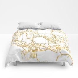 SHENZHEN CHINA CITY STREET MAP ART Comforters