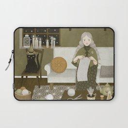 knitting magic Laptop Sleeve