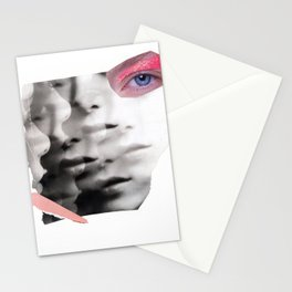 collage portrait Stationery Cards