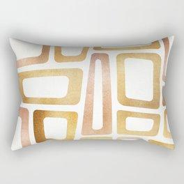 Mid Century Modern Metallics Rectangular Pillow