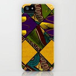 Earthy Mardi Gras African Print iPhone Case