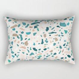 Terrazzo Turquoise Pattern Rectangular Pillow