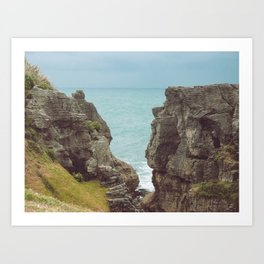 Pancake Rocks in New Zealand Art Print