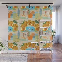 Tiki Surf Wall Mural