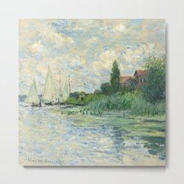 """Claude Monet """"Les bords de la Seine au Petit-Gennevilliers"""" Metal Print"""