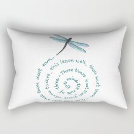Witches rule of Three and dragonfly Rectangular Pillow