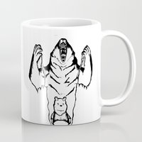 winnie the pooh Mugs featuring Winnie the Pooh Inner Bear by Siriusreno