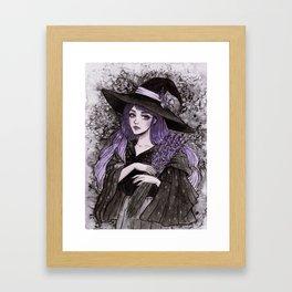 Lavender Witch- Day6 Inktober Framed Art Print