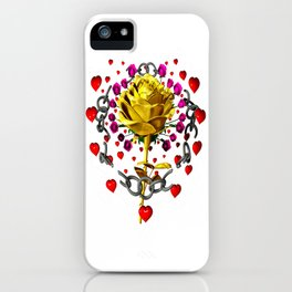 Love rose breaks all chains, hatetolove iPhone Case