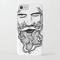 beard iPhone & iPod Cases featuring Beard  by Holly Harper