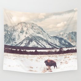 Bison & Tetons Wall Tapestry
