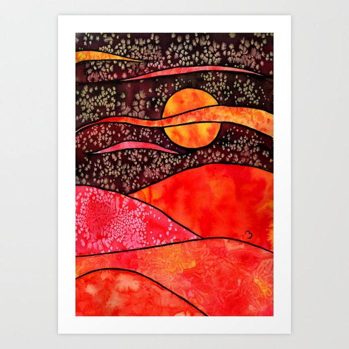 Red Night Art Print