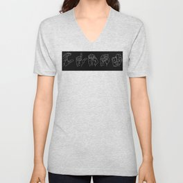 Clean-Sign-White Unisex V-Neck