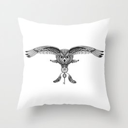 The owl is dreaming Throw Pillow