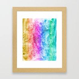 Multicolor aguarelle shine Framed Art Print