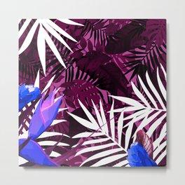 Bold Pink Tropical Paradise Design Metal Print