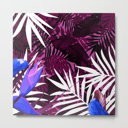 Bold Pink Tropical Paradise Design Metal Print