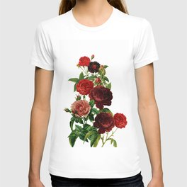 Vintage & Shabby Chic - Red Roses T-shirt