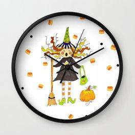 Raining Candy Corn Wall Clock
