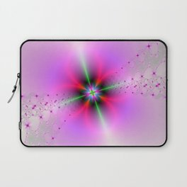 Floral Sprays in Pink and Green Laptop Sleeve