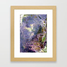 Freeform 25 - Coral Reef Abstract - Flow Acrylic Original Framed Art Print