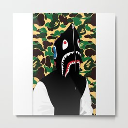 Bape Shark t shirt logo Metal Print