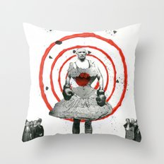 Woman with stones Throw Pillow