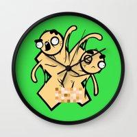 x men Wall Clocks featuring X-Men by Artistic Dyslexia