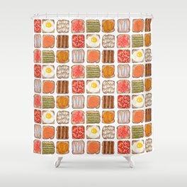 Breakfast Toast Shower Curtain