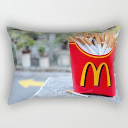 Smoked Fries Rectangular Pillow