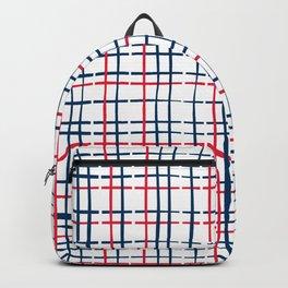 4th of July Skinny Gingham Backpack