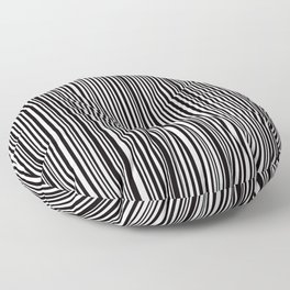 Simply small black and white handrawn stripes - vertical - Mix & Match with Simplicty of life Floor Pillow