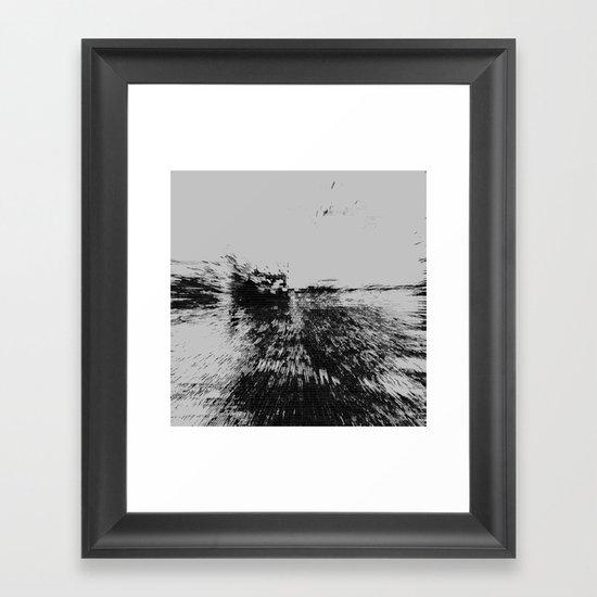 Structural Composition Framed Art Print