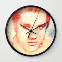 elvis Wall Clocks featuring ELVIS by MyimagesArt