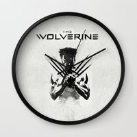 x men Wall Clocks featuring X-MEN by bimorecreative