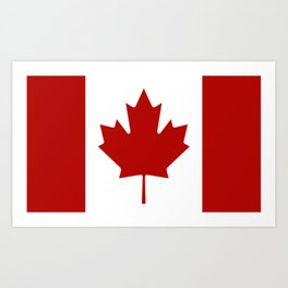 Canadian Flag Art Print