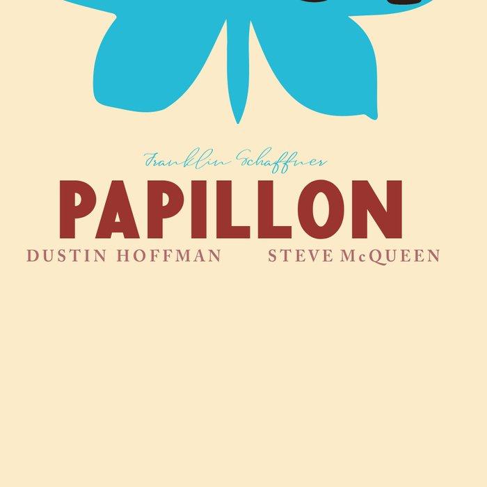 Papillon, Steve McQueen vintage movie poster, retrò playbill, Dustin Hoffman, hollywood film Leggings